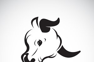 Vector of a bull head design. Animal