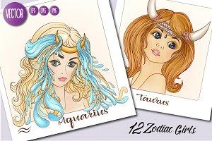 12 Zodiac Girls