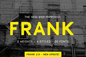 Frank - Display sans with 20 fonts