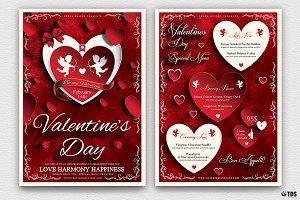 Valentines Day Flyer+Menu Bundle V1