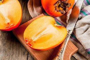Raw ripe persimmon