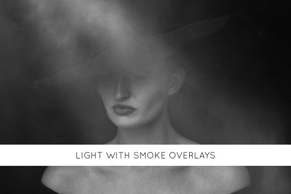 Light with smoke overlays