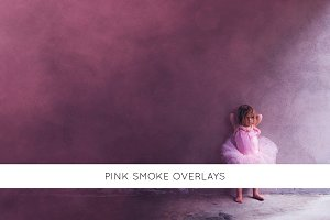 Pink smoke overlays