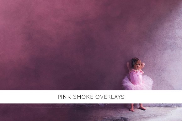 Pink smoke overlays