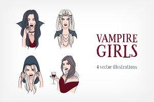 Two set of various vampire girls