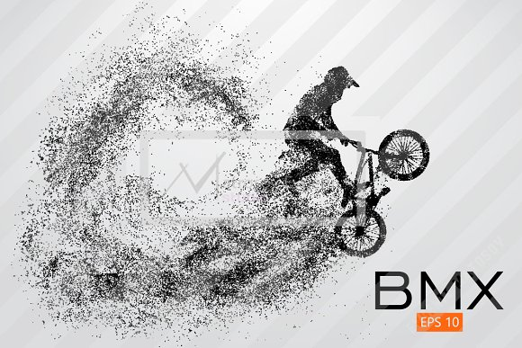 Silhouette Of A BMX Rider Vector