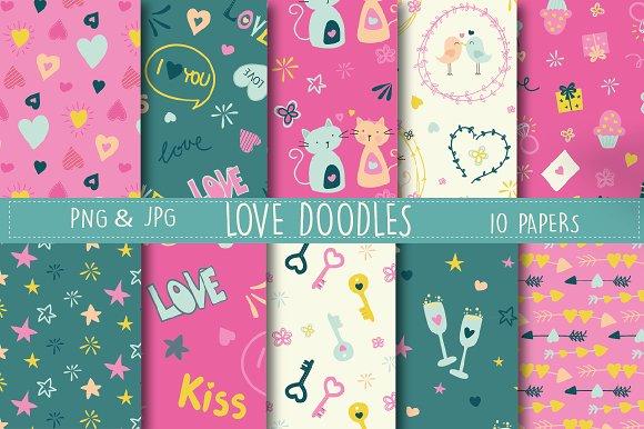 Love doodles paper