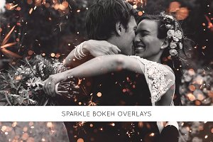 Sparkle bokeh overlays