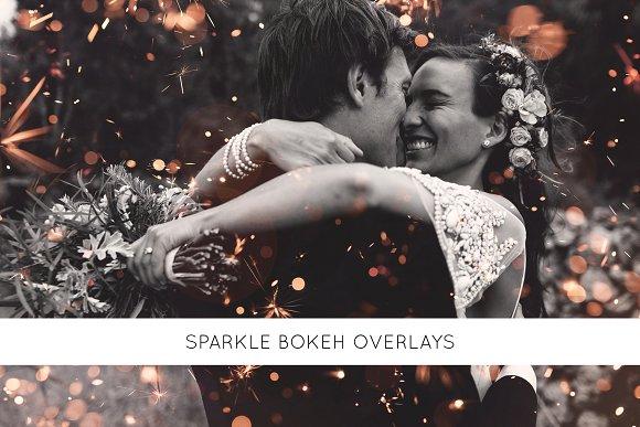 Sparkle bokeh overlays