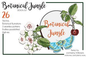 Botanical Jungle Design Set of 26.