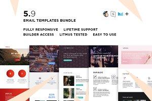 5 Email templates bundle IX