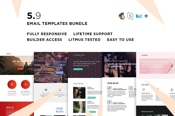 5 Email Templates Bundle IX