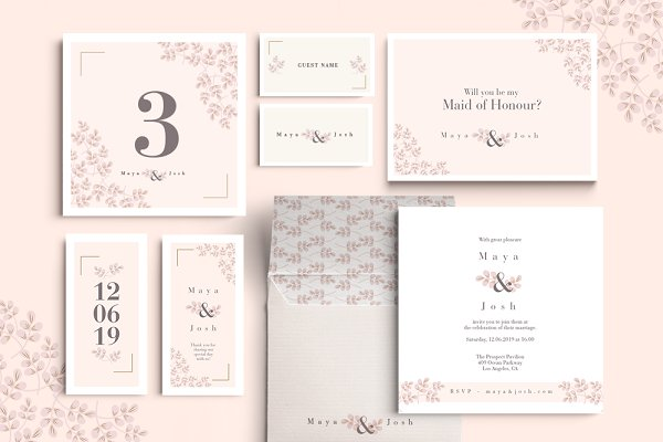 Invitation Templates: Werlang Paper - Selbach Wedding Set