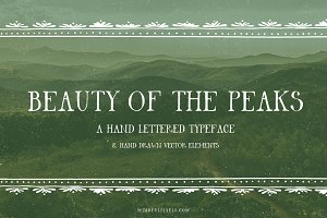 Beauty Of The Peaks Font