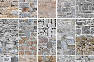 25 Seamless Stone Wall Textures