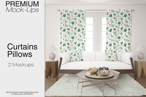 Curtains & Pillows-Graphicriver中文最全的素材分享平台