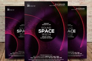 Sound Space Flyer Template