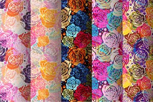 Set of roses patterns