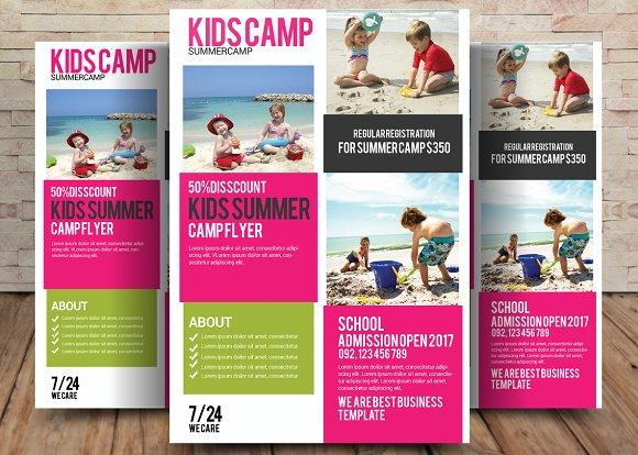 Kids Summer Camp Flyer Template
