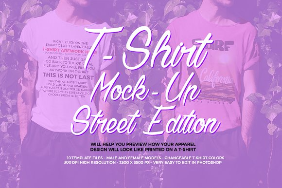 T-Shirt Mock-Up  Street Edition