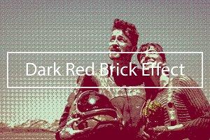 Dark Red Brick Effect