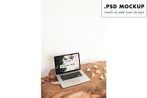 rustic wood table web mockup