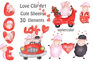 Love clipart Cute Sheeps clipart