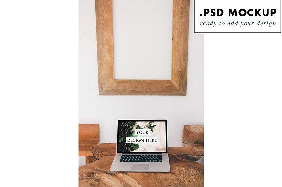 Rustic Wood Table Mockup