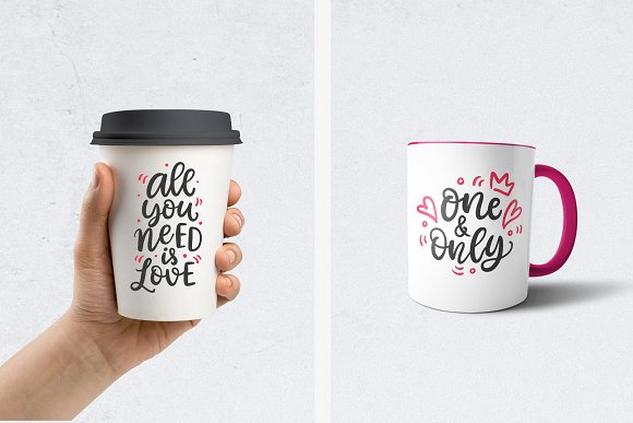 Valentine's Day Lettering in Objects - product preview 3