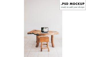 rustic wood studio mockup