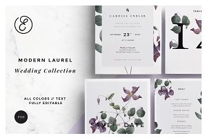 Modern Laurel P.1 Wedding Collection