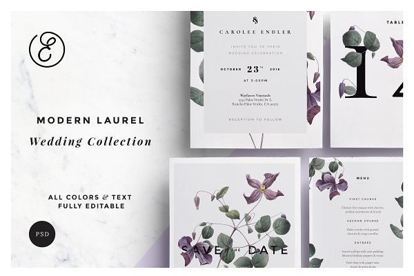 Modern Laurel P.1 Wedding Collectio…