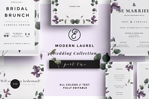 Modern Laurel P.2 Wedding Collection