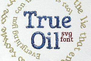 True Oil OpenType-SVG Font