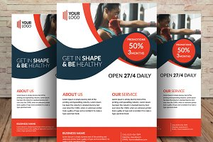 Women Health & Gym Flyer Template