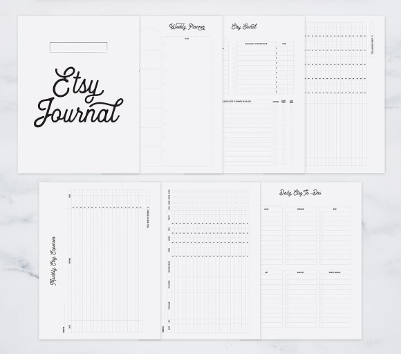 Fully Editable Etsy Journal in Stationery Templates - product preview 3