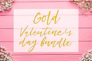 Valentine's day gold foil bundle