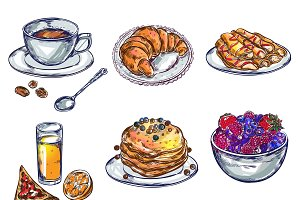 Food Breakfast Icon Set