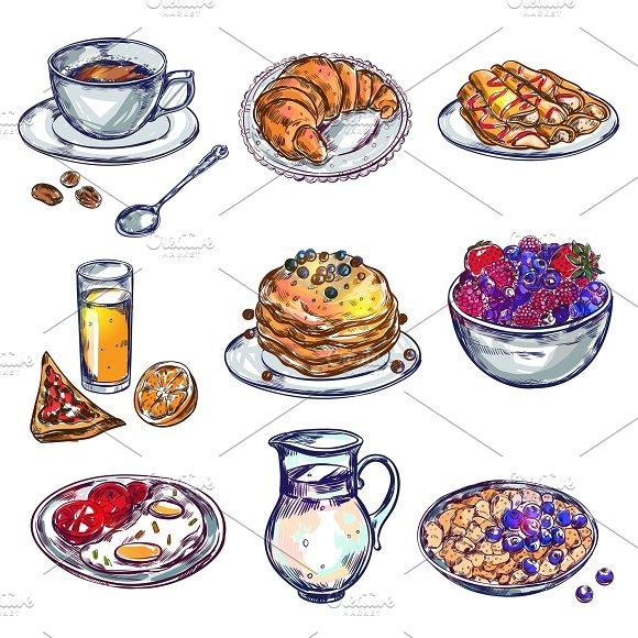 Food Breakfast Icon Set