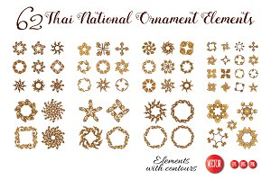 62 Thai Ornament Elements