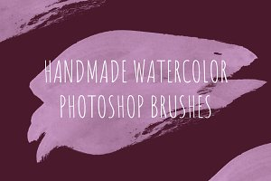 68 handmade watercolor PS brushes