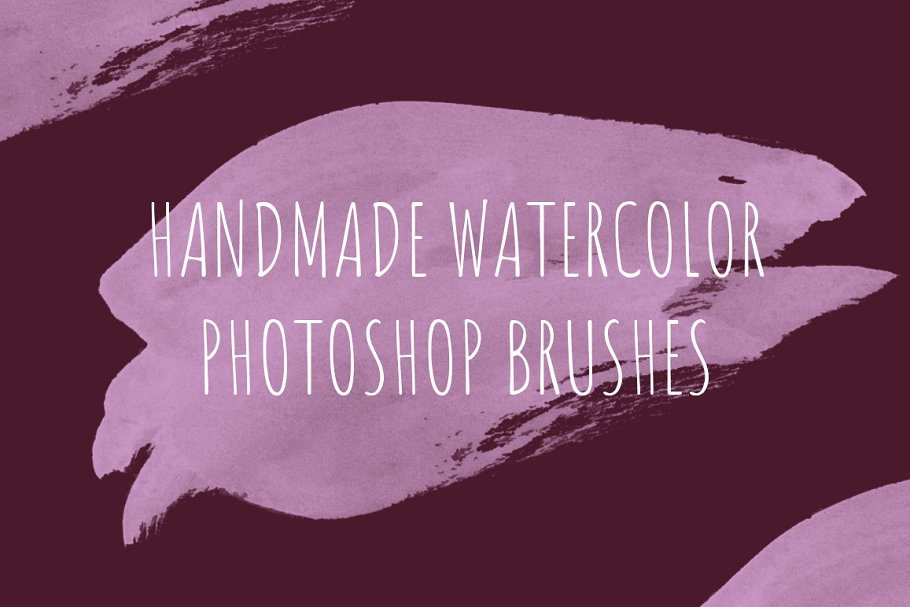 68 handmade watercolor PS brushes in Photoshop Brushes - product preview 8