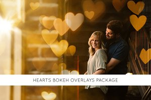 Hearts bokeh package