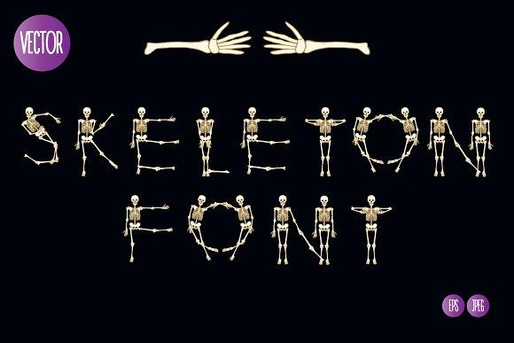 Skeleton Font