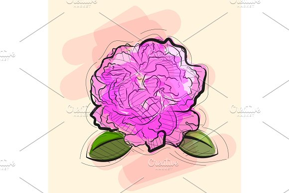 rose in tattoo style.