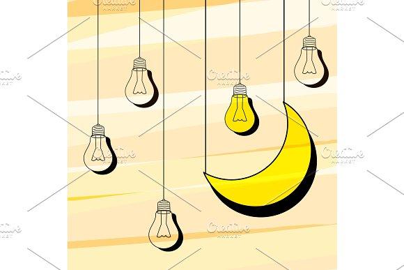 Retro illustration wishing good night.