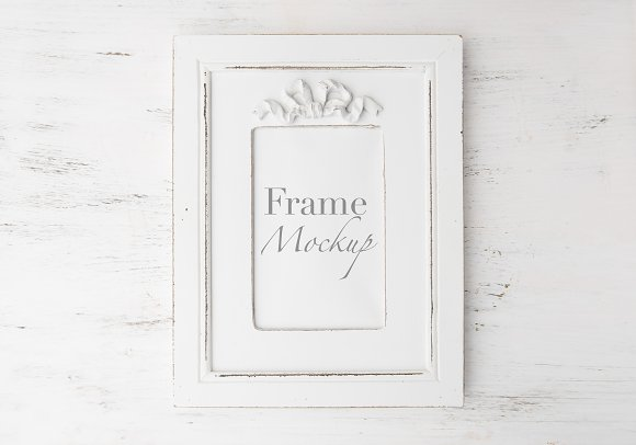 Minimal White Frame Mock-Up