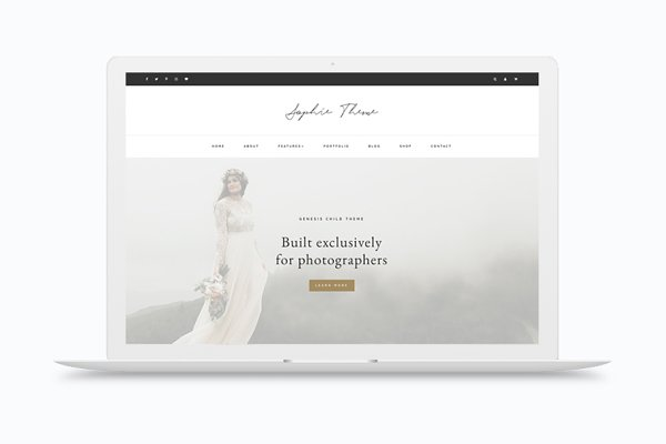 WordPress Photography Themes: herpark - Sophie - Portfolio / eCommerce Theme