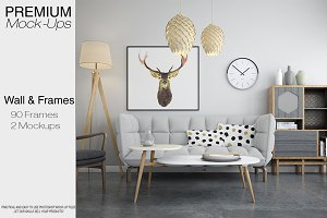 Wall Frames & Pillow Mockup Pack