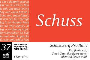 SchussSerifProIta No.37 (1 Font)